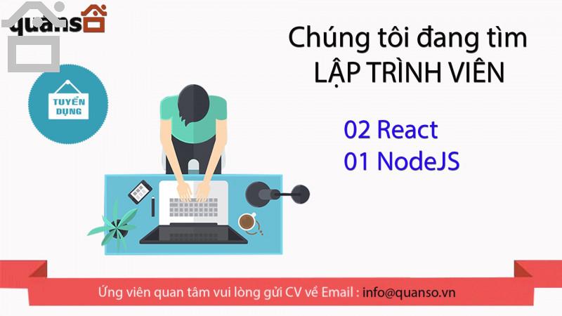 Tuyển dụng React và NodeJS