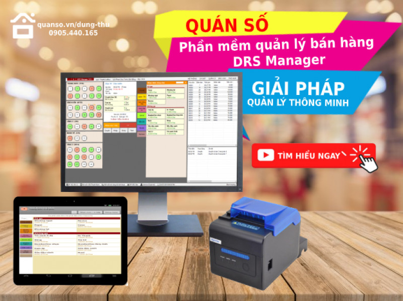 Phần mềm quản lý bán hàng DRS Manager chuyên dành cho nhà hàng café – Giải pháp quản lý thông minh chuyên dành cho nhà hàng café