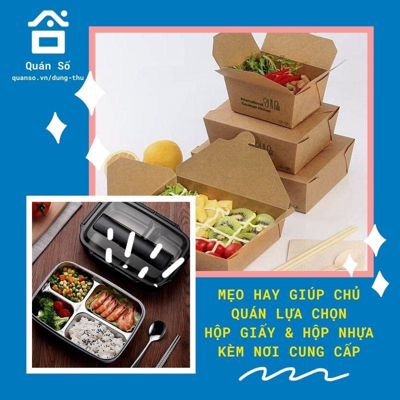 Mách chủ quán mẹo hay lựa chọn nơi cung cấp hộp giấy – hộp nhựa để đựng thức ăn đồ uống