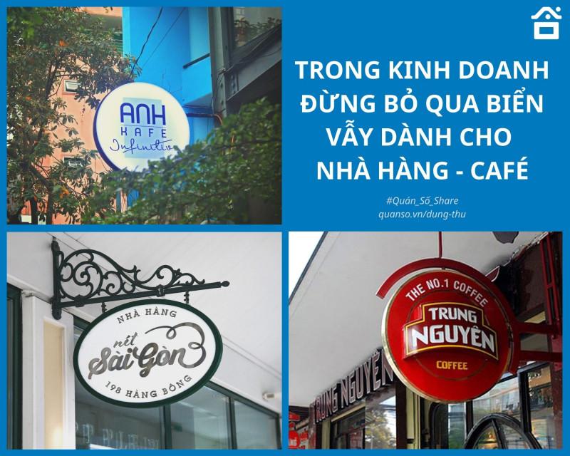 Trong kinh doanh đừng bỏ qua biển vẫy dành cho nhà hàng café!!